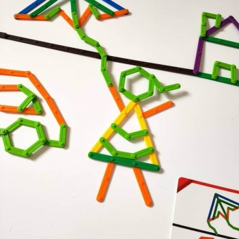 EDX Geoset Junior Geometrijske palčke - priložene aktivnostne kartice