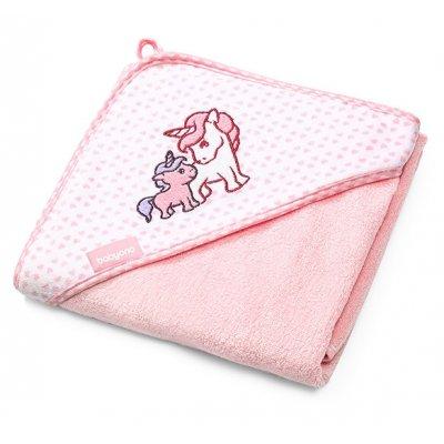 BABYONO Brisača s kapuco za dojenčka - Bambus, roza