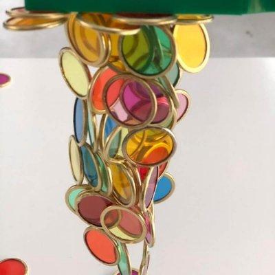 Magneti za otroke z barvnimi žetoni (100 kos) - 2 magnetni palici