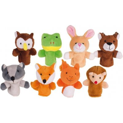 GOKI Naprstne lutke Gozdne živali (8 kos)