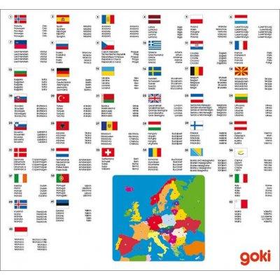 GOKI Sestavljanka zemljevid Evropa