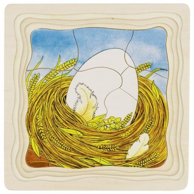 GOKI Večplastna sestavljanka Od jajca do kokoške