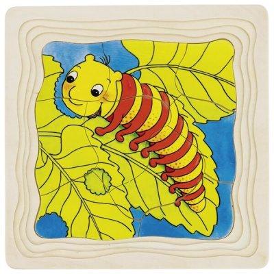 GOKI Večplastna sestavljanka Od gosenice do metulja