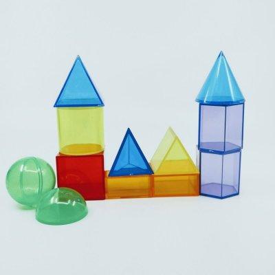 TICKIT Geometrijska telesa in liki 3D (12 kos)