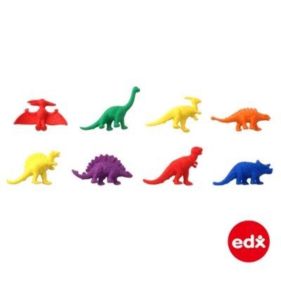 EDX Dinozavri za razvrščanje in štetje (32 kos) - priložena pinceta