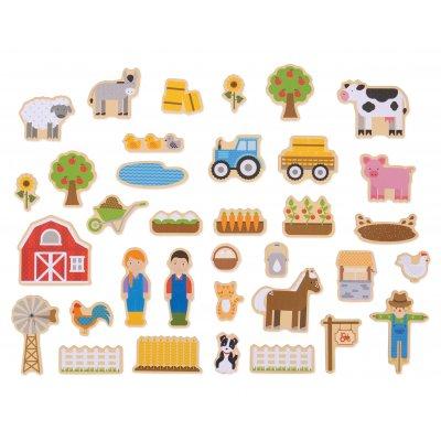 BIGJIGS Magnetki za otroke - Kmetija