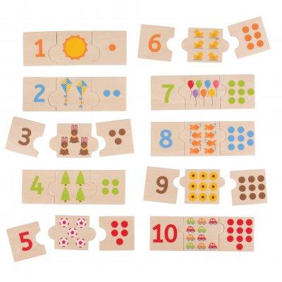 BIGJIGS Puzzle sestavljanke - Števila