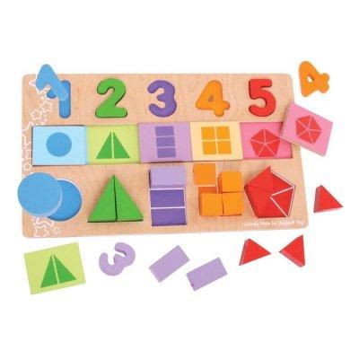 BIGJIGS Sestavljanka Matematika za otroke