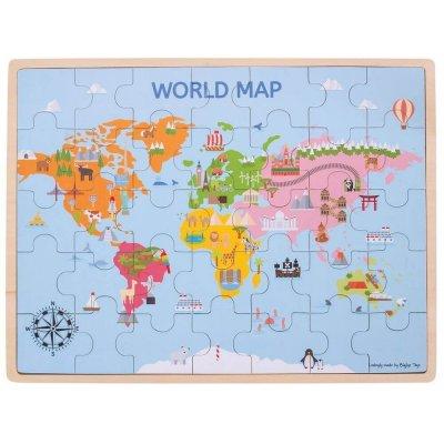 BIGJIGS Puzzle sestavljanke Zemljevid sveta