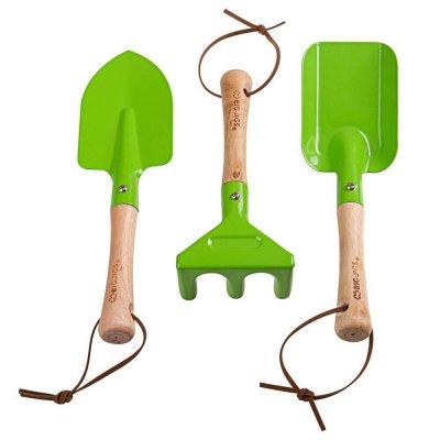 BIGJIGS Otroško vrtno orodje - zelena