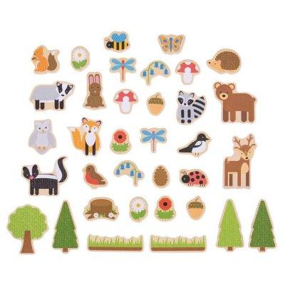 BIGJIGS Magnetki za otroke - Gozdne živali