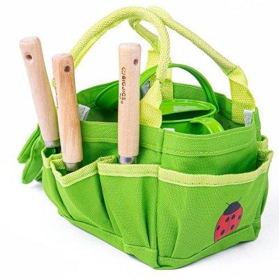 BIGJIGS Otroško vrtno orodje s torbo