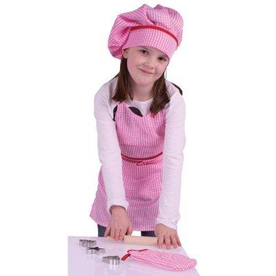 BIGJIGS Otroški predpasnik - roza set