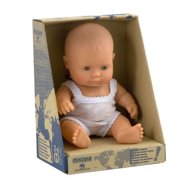 MINILAND Dojenček igrača - Evro deklica (21 cm)