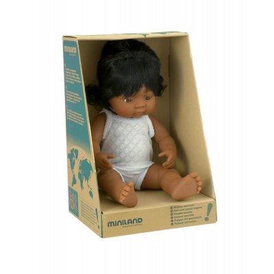 MINILAND Dojenček igrača - Latino deklica (38 cm)