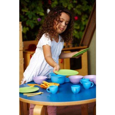 GREEN TOYS Otroška kuhinja - Posoda in jedilni set