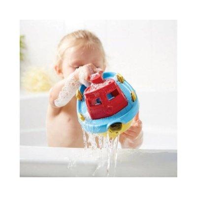 GREEN TOYS Vodne igrače - Tugboat, rdeča