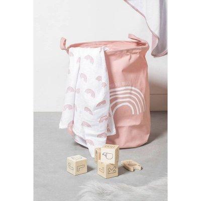 JOLLEIN Koš za igrače XL, Rainbow, blush pink
