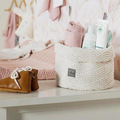 JOLLEIN Košara za shranjevanje, River knit, pale pink