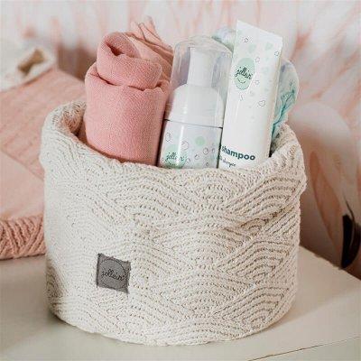JOLLEIN Košara za shranjevanje, River knit, cream white
