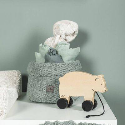 JOLLEIN Košara za shranjevanje, River knit, ash green