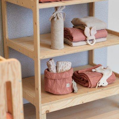 JOLLEIN Košara za shranjevanje Spring Knit Rosewood
