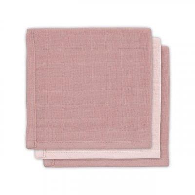 JOLLEIN Krpice za umivanje, bambus, pale pink (3 kos)