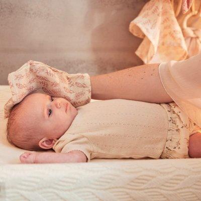 JOLLEIN Krpice za umivanje dojenčka Meadow Rosewood rokavice (3 kos)