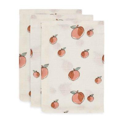 JOLLEIN Krpice za umivanje dojenčka Peach rokavica (3 kos)