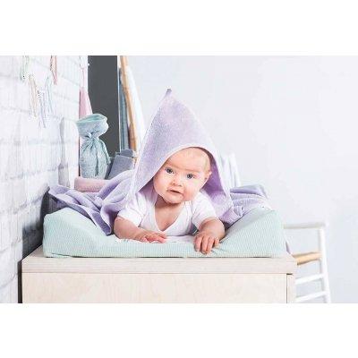 JOLLEIN Otroška brisača s kapuco 100x100 cm, terry, lilac