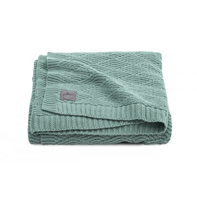 JOLLEIN Otroška odejica 75x100 cm, River knit, ash green