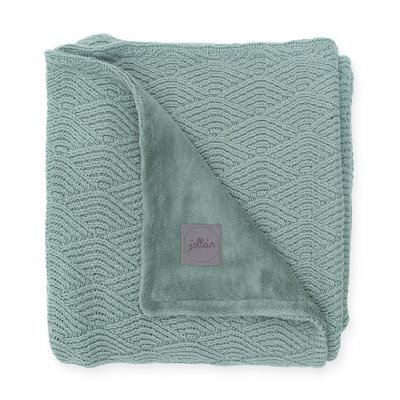 JOLLEIN Odejica za dojenčka 75x100 cm, River knit lined, ash green