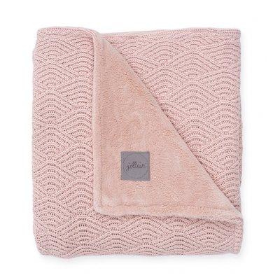 JOLLEIN Odejica za dojenčka 75x100 cm, River knit lined, pale pink
