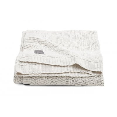 JOLLEIN Odejica za dojenčka 75x100 cm, River knit, cream white