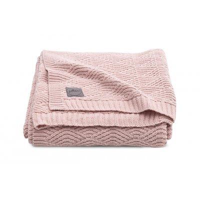 JOLLEIN Odejica za dojenčka 75x100 cm, River knit, pale pink
