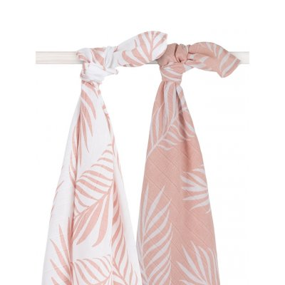 JOLLEIN Tetra plenice 115x115 cm, Nature, pale pink (2 kos)