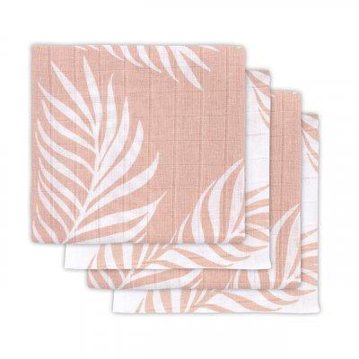 JOLLEIN Tetra plenice 70x70 cm, Nature, pale pink (4 kos)