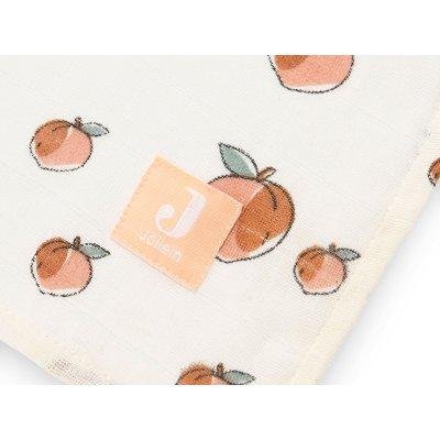 JOLLEIN Tetra plenice 115x115 cm Peach (2 kos)