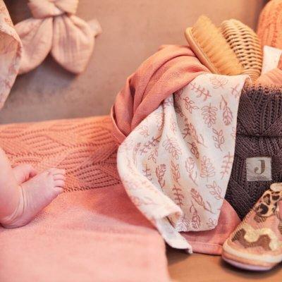JOLLEIN Krpice za umivanje dojenčka Meadow Rosewood (3 kos)