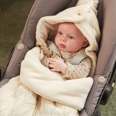 JOLLEIN Zimska vreča za voziček Spring Knit Ivory