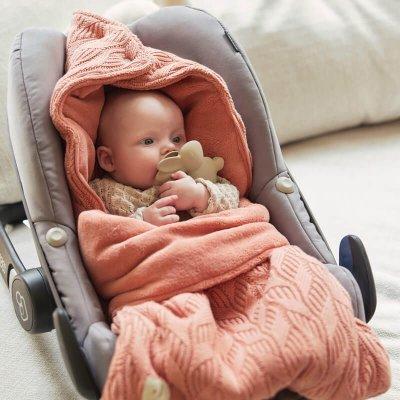 JOLLEIN Zimska vreča za voziček Spring Knit Rosewood