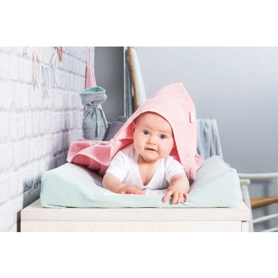 JOLLEIN Otroška brisača s kapuco 100x100 cm, terry, blush pink