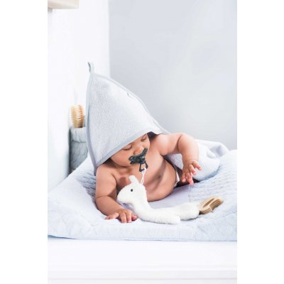 JOLLEIN Otroška brisača s kapuco 100x100 cm, velvet terry, soft grey