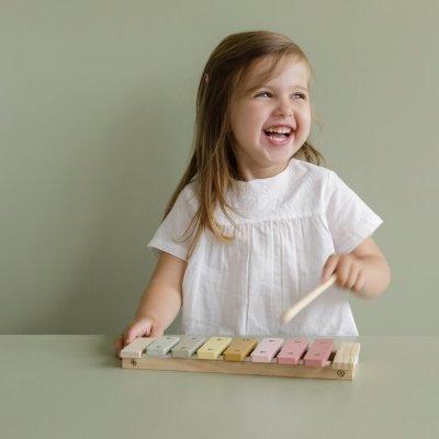 LITTLE DUTCH Ksilofon za otroke Pink