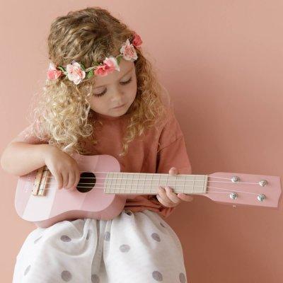 LITTLE DUTCH Otroška kitara Pink