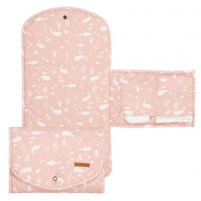 LITTLE DUTCH Prenosna previjalna podloga Pink