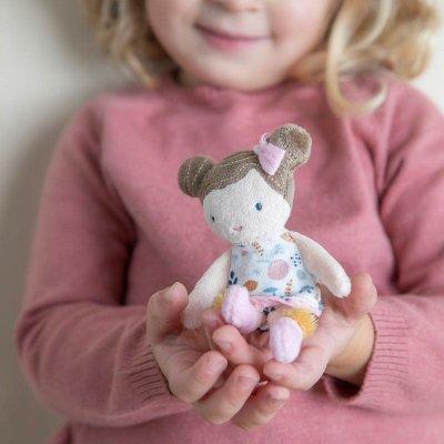 LITTLE DUTCH Punčka iz blaga Rosa (10 cm)