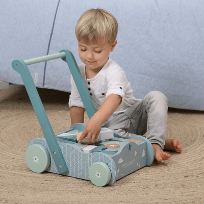 LITTLE DUTCH Sprehajalec za otroke - blue