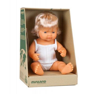 MINILAND Dojenček igrača - Evro deklica (38cm)