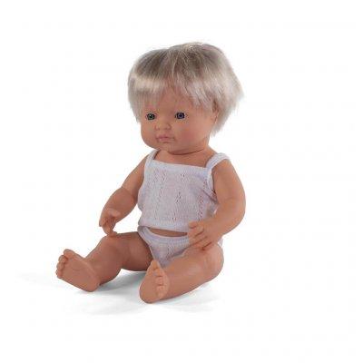MINILAND Dojenček igrača - Evro deček (38 cm)